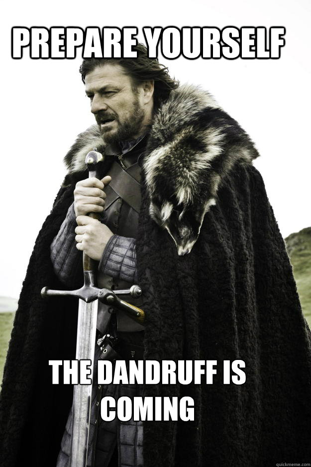 Image result for dandruff meme