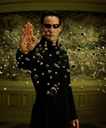 Who told Neo he could stop bullets?