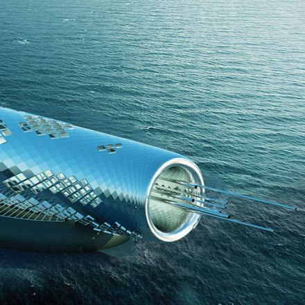 Solar powered pipe desalinates seawater into drinkable fluid.