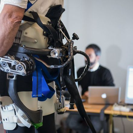 This robotic exoskeleton could help prevent falls in the elderly.