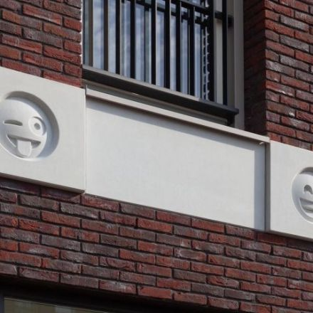 Dutch architects outfit a building in emoji.