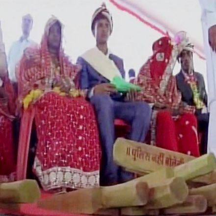 Minister gifts 700 brides wooden bats; to be used on husbands if they turn alcoholic