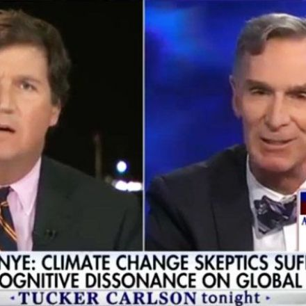 'I'm open-minded, you're not': Tucker Carlson melts down after Bill Nye schools him on climate change