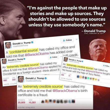 Hypocrite Trump