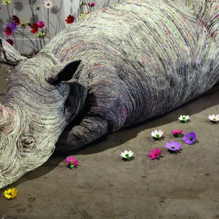Paper Trails: Rolled Newspaper Animal Sculptures by Chie Hitotsuyama