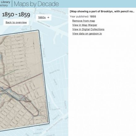 "The New York Public Library Has a ""Digital Time-Travel Service"" For Its Historical Maps"