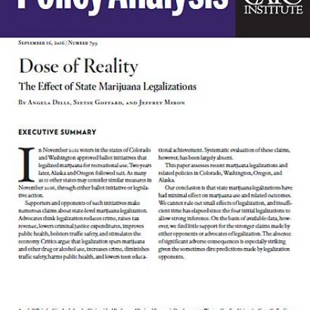 Dose of Reality: The Effect of State Marijuana Legalizations