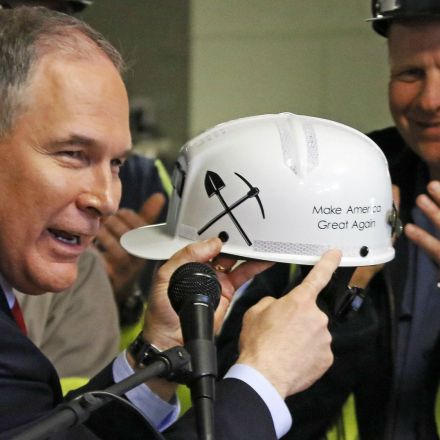 Scott Pruitt claims he wants to help towns his policies will destroy. Like this one