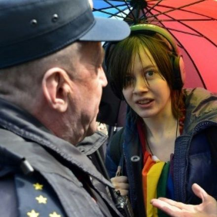 Russia detains protesters against Chechnya anti-gay violence
