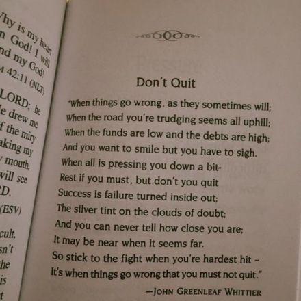 Don't Quit, A Poem