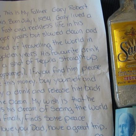 Tequila Bottle with Man's Ashes and a Request Washes up on Nova Scotia Beach