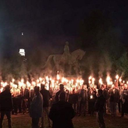 Torch-wielding Virginia protestors gather by Confederate status, chant Nazi rhetoric