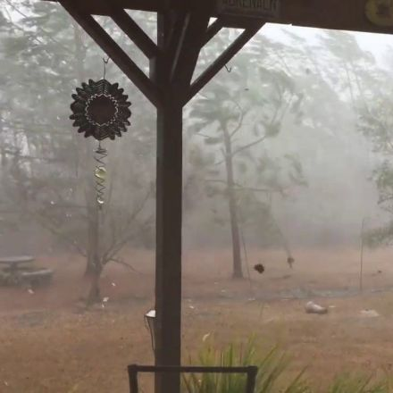 Strong Storms Pound North Carolina Coast
