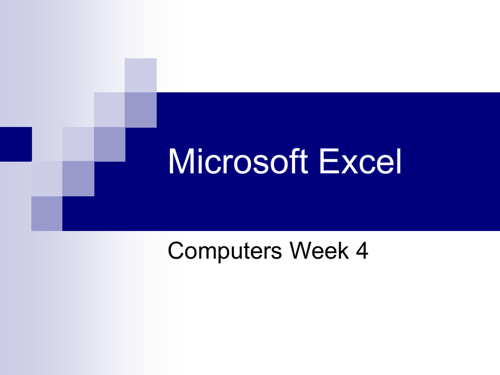 Microsoft Excel Vocabulary Words