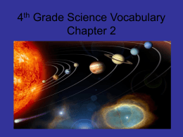 Name: Solar System Quiz Review 2 List the order of the ...