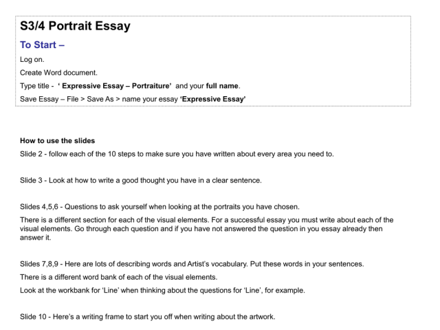 Portariat Essay PPoint
