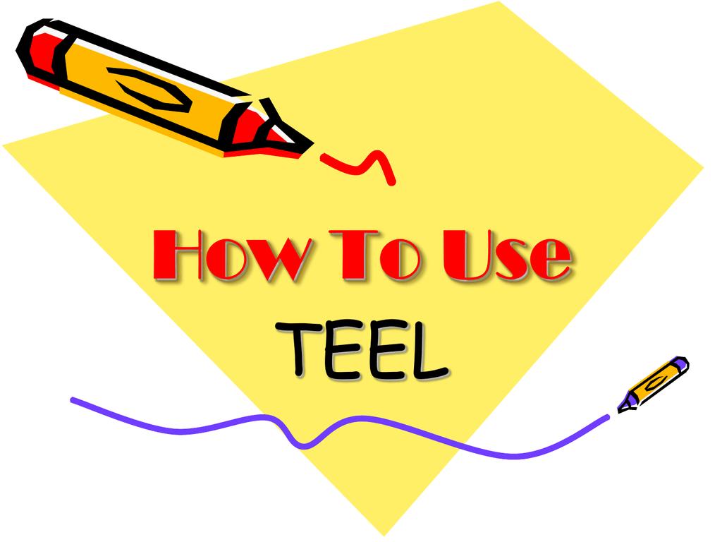 Teel Essay Structure Example