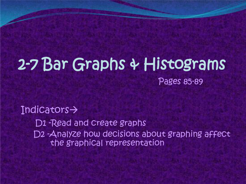 2 7 Bar Graphs Amp Histograms