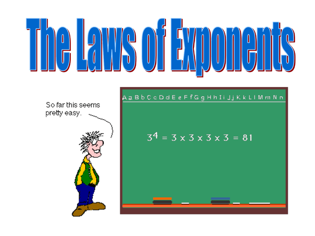 Ppt Laws Of Exponents
