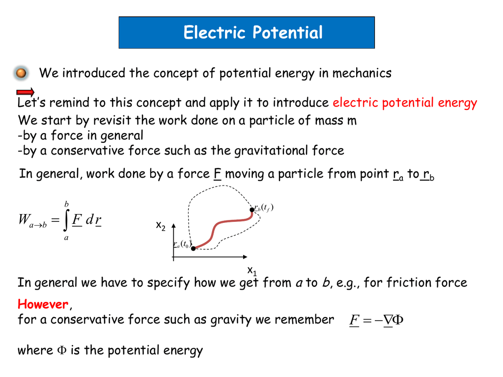 Q2 Find The Equation Of Potential Energy In A