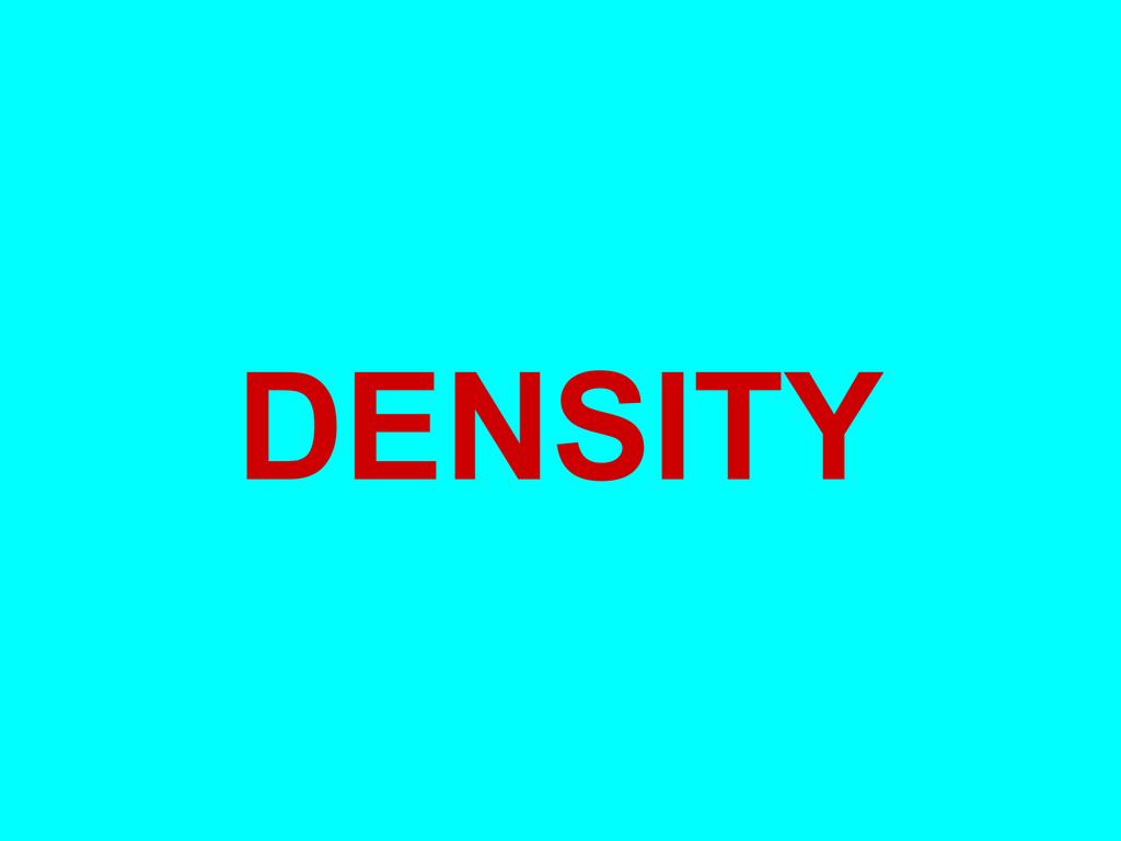 Density Buoyancy Viscosity