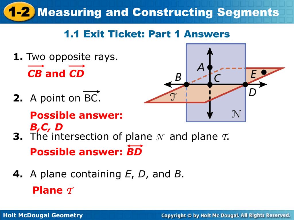 Holt Mcdougal Geometry 1 2
