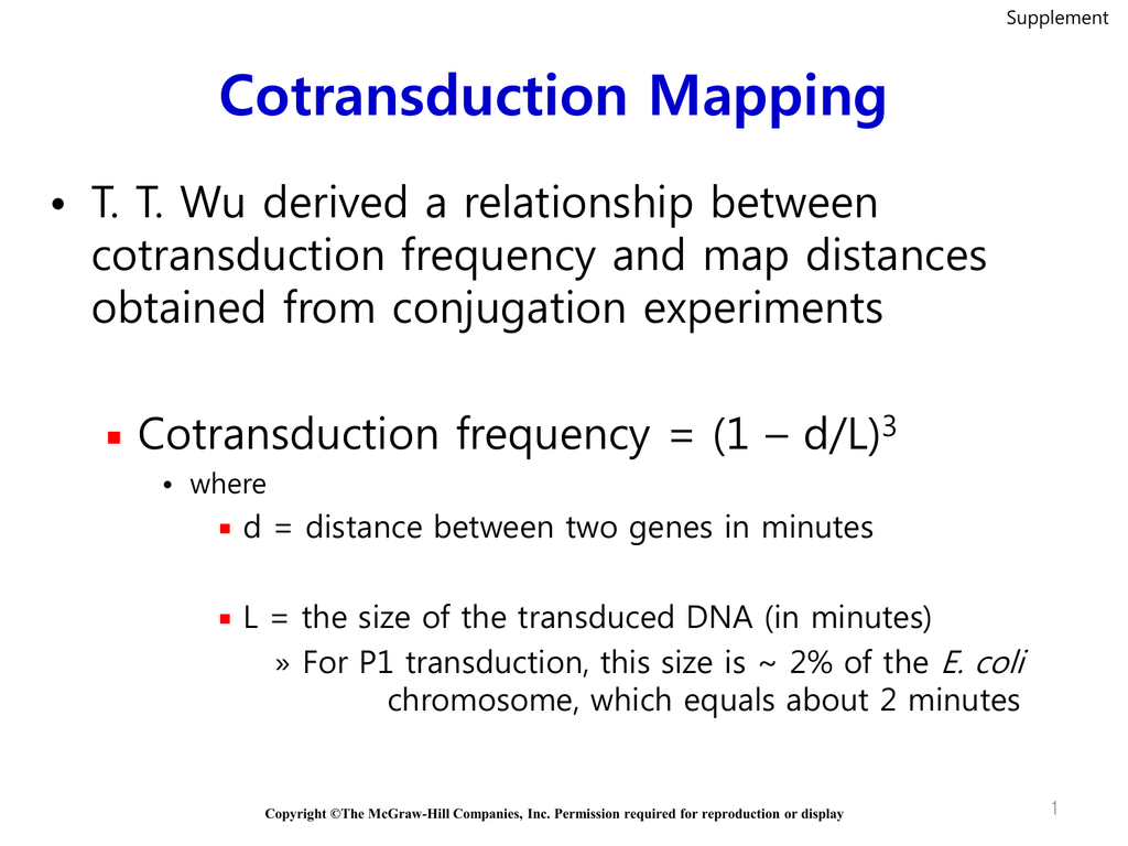 Cotransduction Mapping