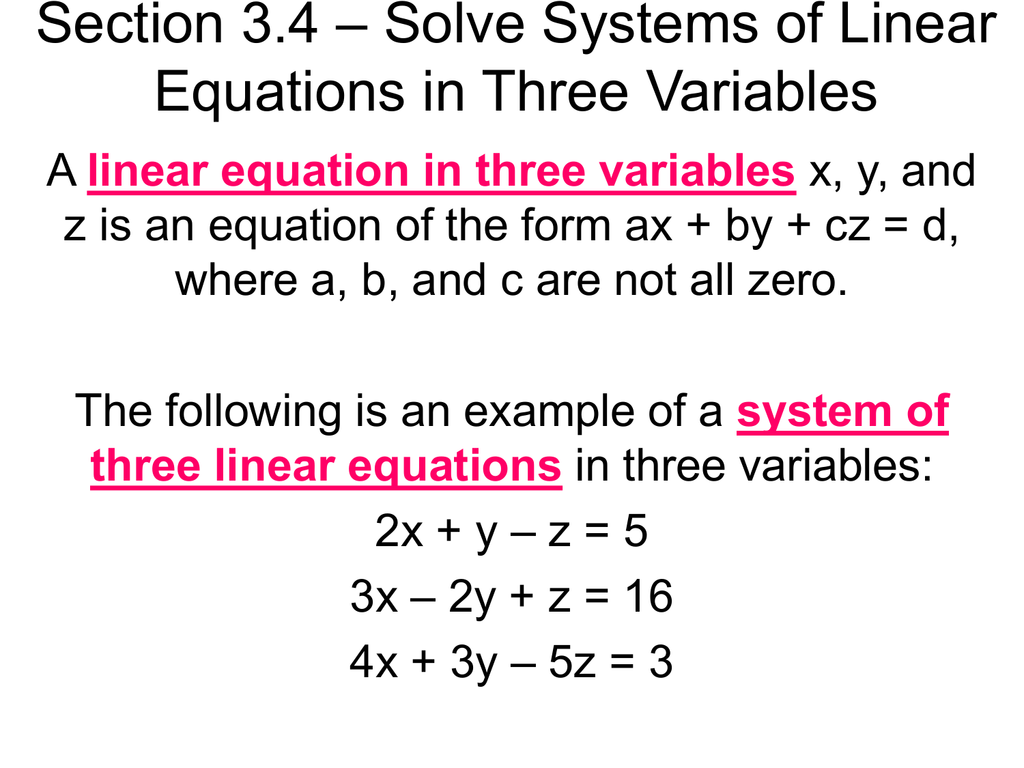 Solve Linear Equations For X And Y