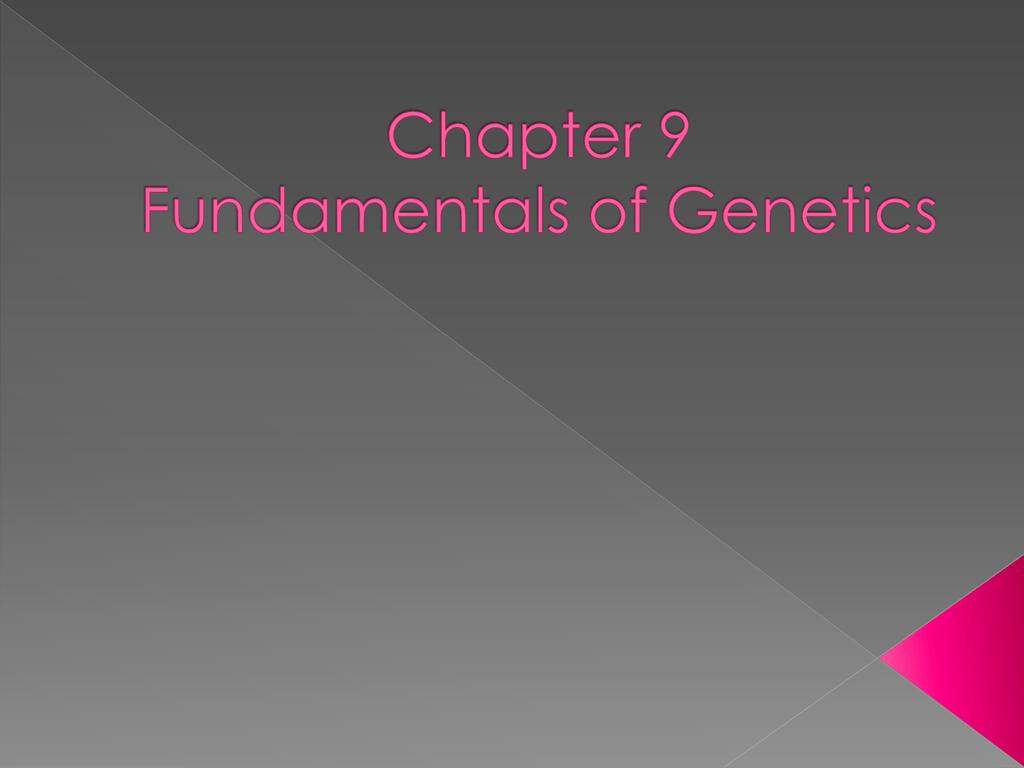 Bestseller Chapter 9 Fundamentals Of Genetics Worksheet