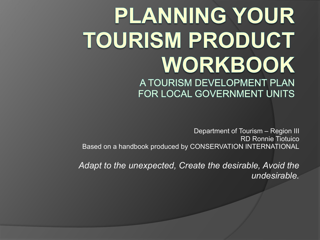 Eight Phases Of Developing A Tourism Plan By Rd Tiotuico
