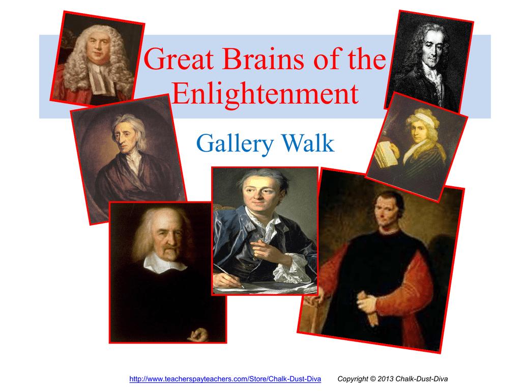 Gallery Walk The Enlightenment Philosophers