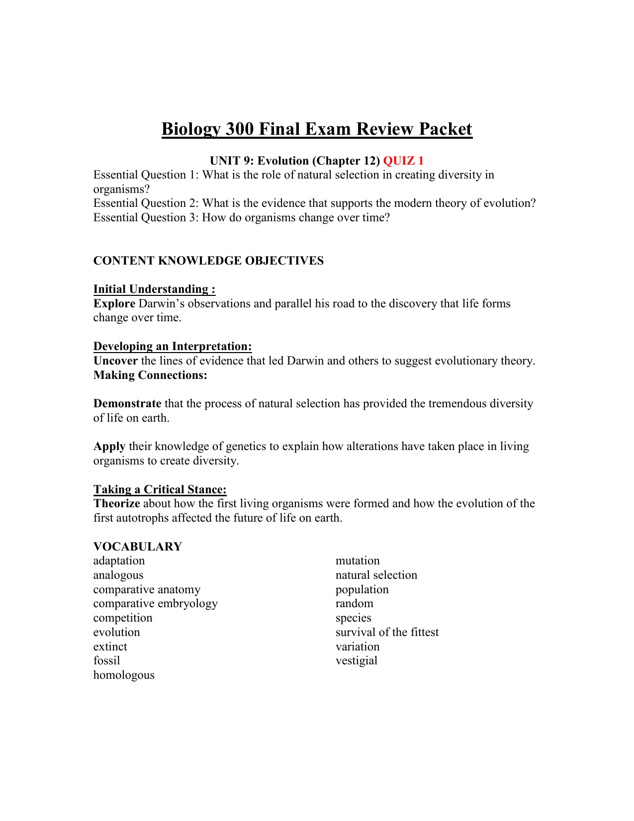 Worksheet Evolution Vocabulary Worksheet Grass Fedjp