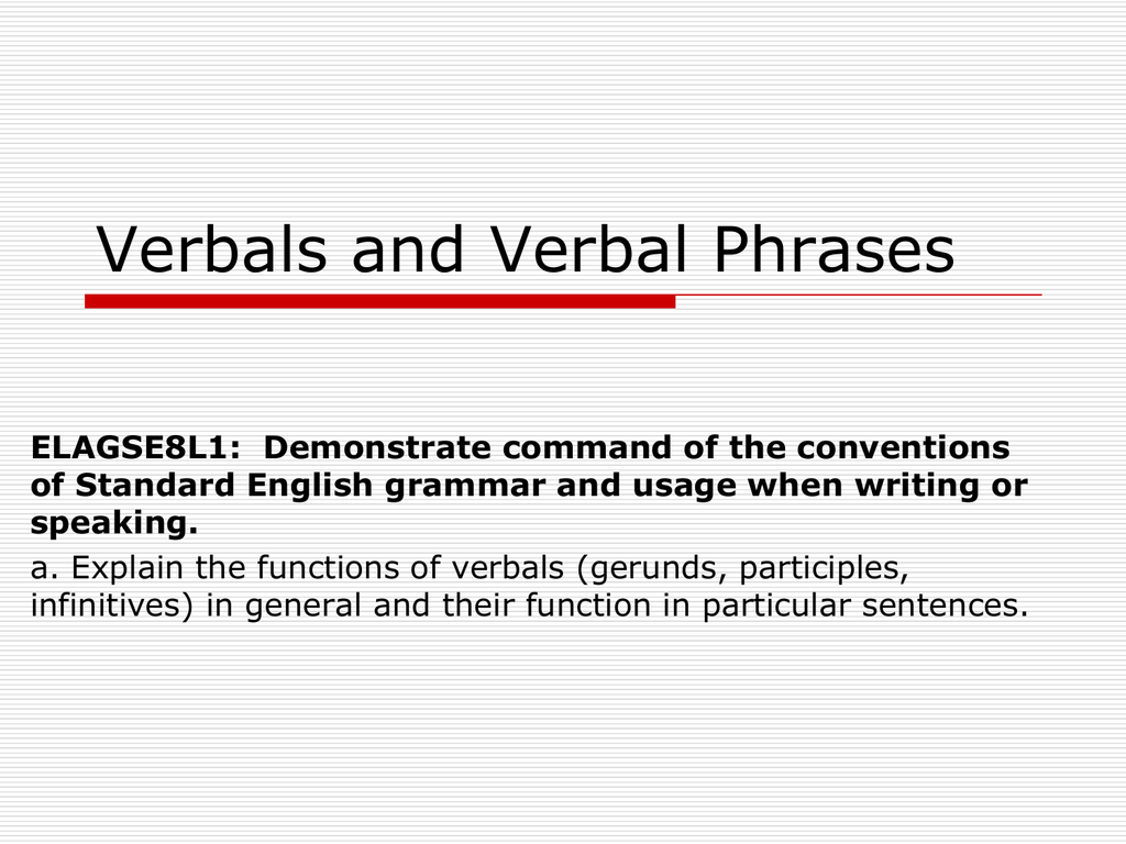 What Is A Verbal Phrase
