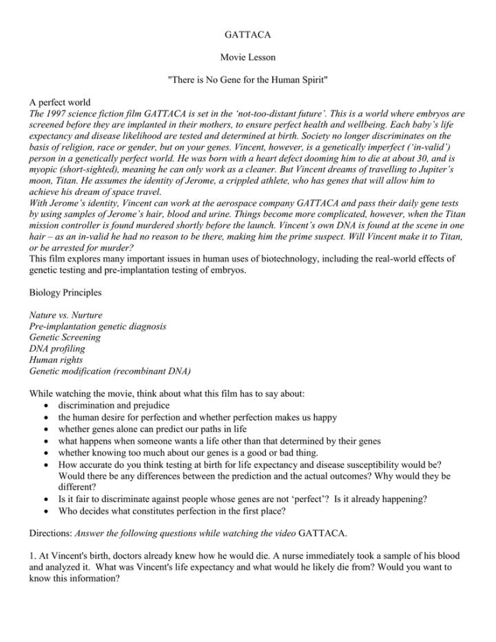 Gattaca essays on discrimination
