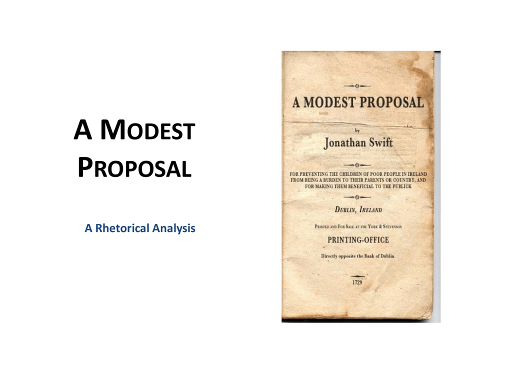 Background And Overview To A Modest Proposal