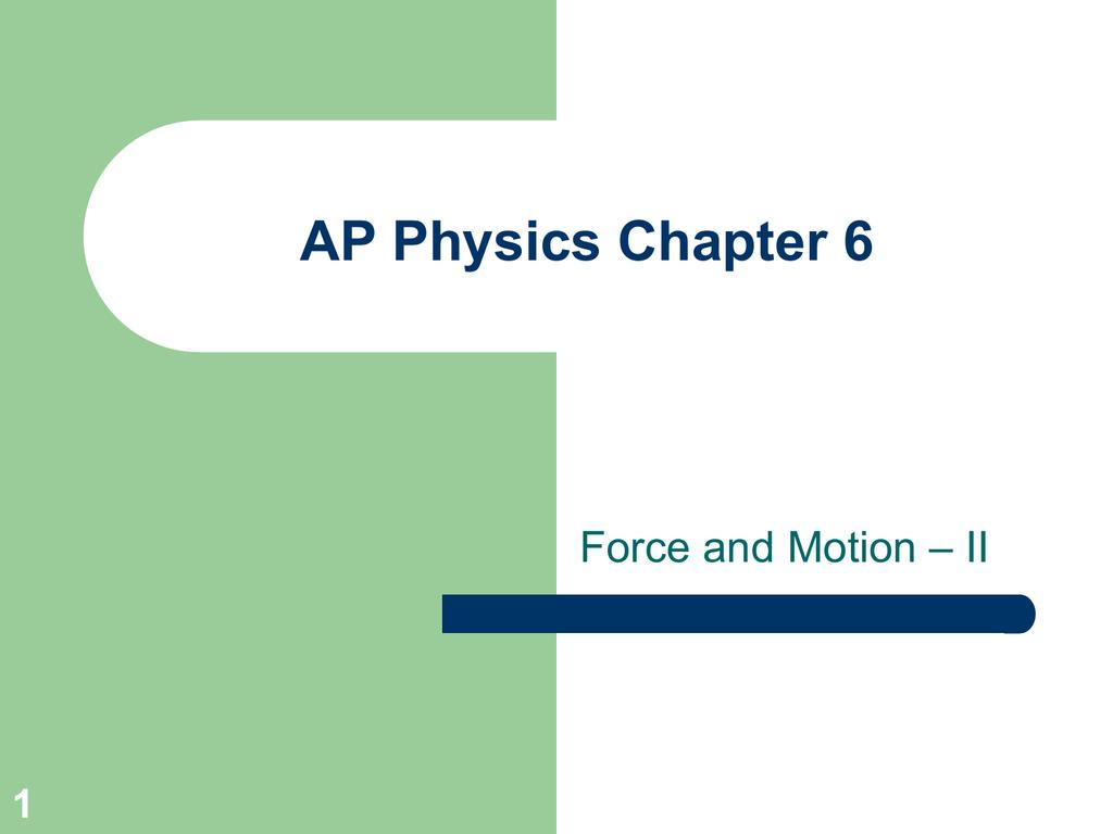 Ap Physics Chapter 1