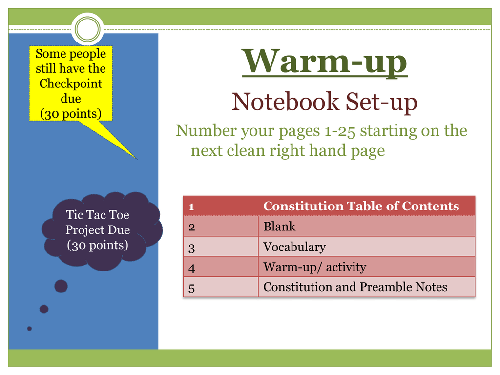Constitutional Convention Vocabulary Worksheet Answers