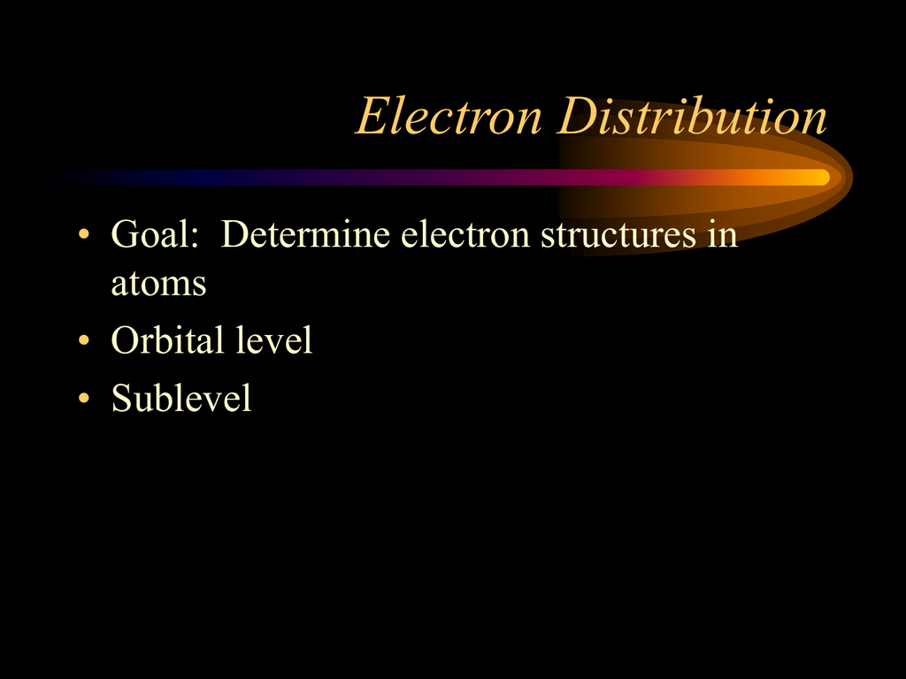 Electron Distribution