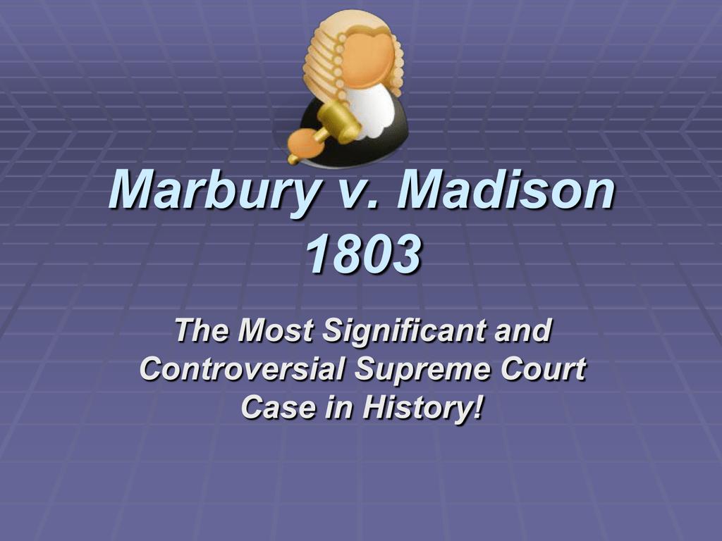 Marbury V Madison Worksheet