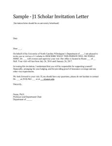 Sample Sponsor Letter For A J 1 Scholar Researcher