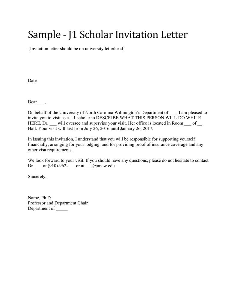Invitation letter for visiting researcher inviview sample j1 scholar invitation letter stopboris Images