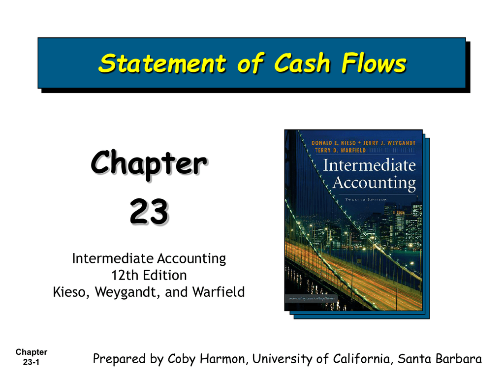 23 Chapter Statement Of Cash Flows Intermediate Accounting