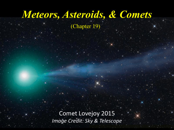 C19: Meteors, Asteroids, Comets
