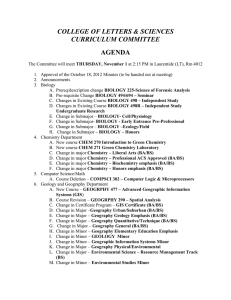 CWU General Education Requirements Worksheet, 2015-2016
