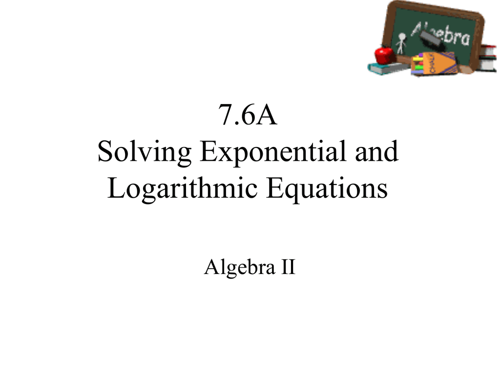 Solving Exponential Equations By Rewriting The Base