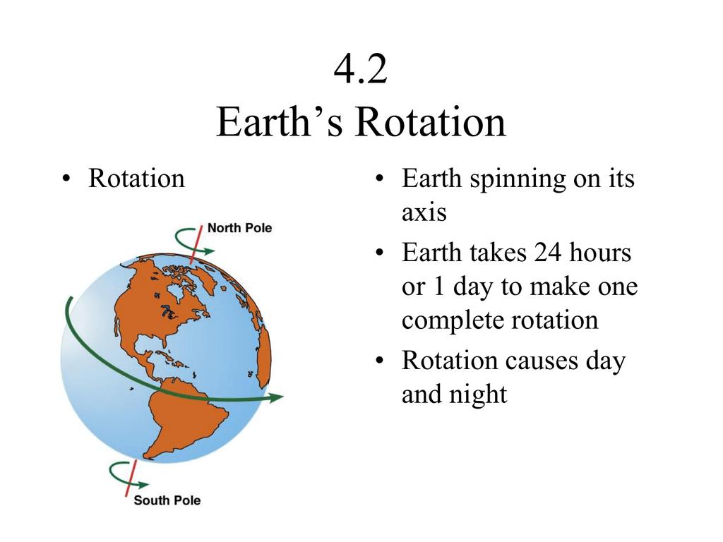 4 2 Earth S Rotation