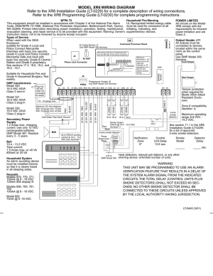 MODEL XR6 WIRING DIAGRAM Refer to the XR6 Installation Guide