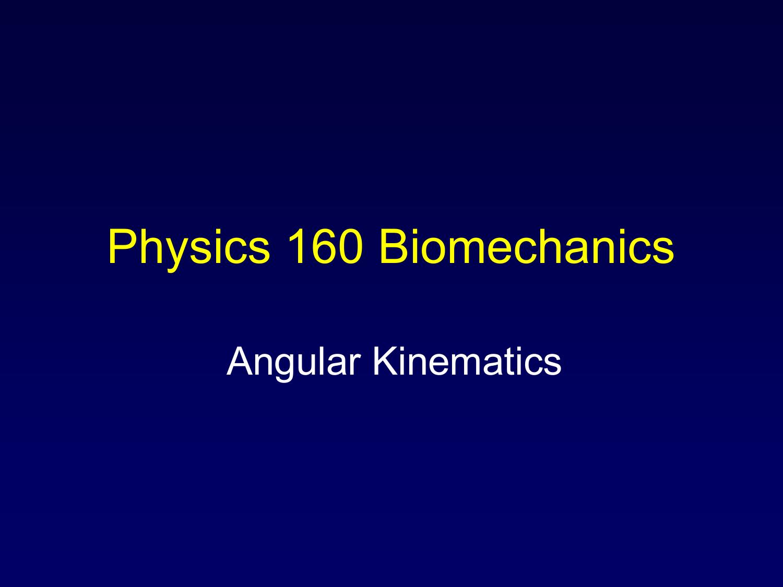 Angular Kinematics