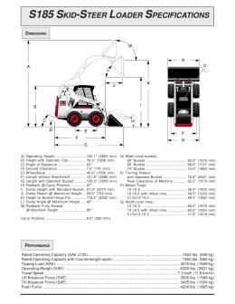 s175 skidsteer loader specifications