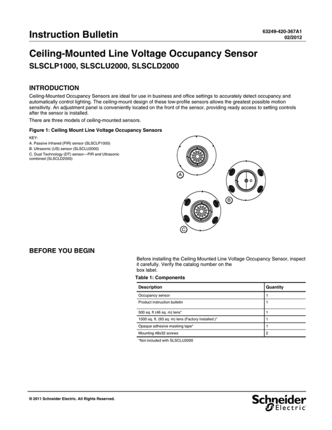 Ceiling Mounted Occupancy Sensor Wiring Diagram